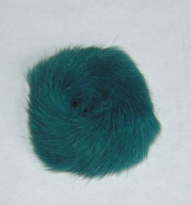 Blue/teal Rabbit Fur Hair Tye Scrunchy Free Shipping