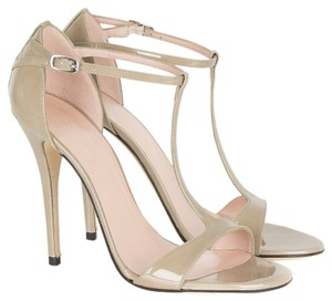 Stuart Weitzman Strappy Dress T-strap Evening Ankle T-strap Pale Gold Sandals