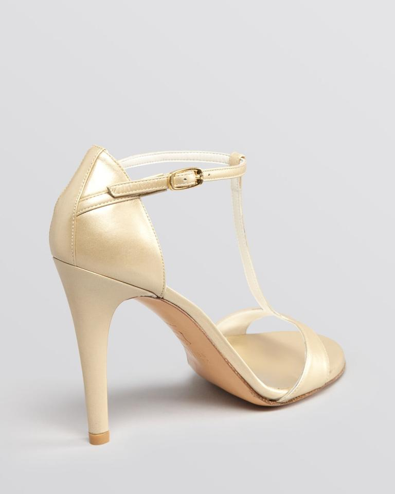 Stuart Weitzman Sinful Mordore Pw29061 Pale Gold Sandals on Sale ...