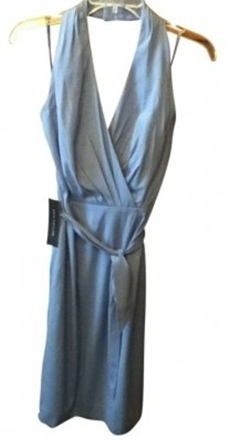 Ann Taylor Silk Halter Wrap Silk Dress