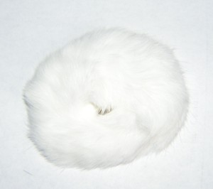 Genuine White Fur Hair Tye Scrunchy Free Shipping