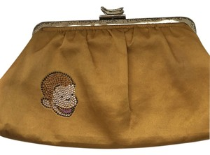 Leslie Weber for Curious George Vintage Studded Silk Yellow Clutch