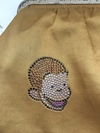 Leslie Weber for Curious George Vintage Studded Silk Yellow Clutch Image 1