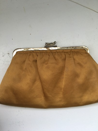 Leslie Weber for Curious George Vintage Studded Silk Yellow Clutch Image 3