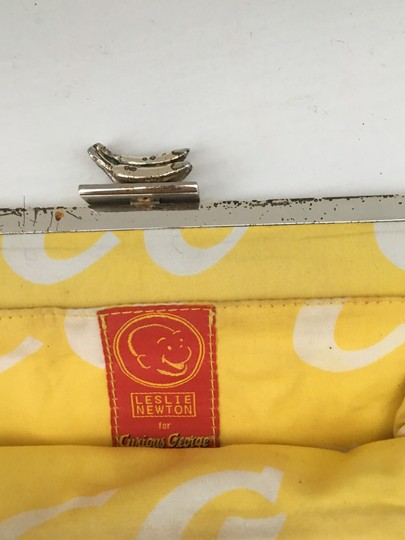 Leslie Weber for Curious George Vintage Studded Silk Yellow Clutch Image 4