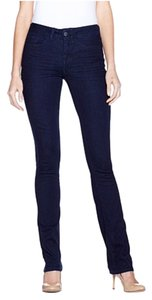 Yummie Woven Stretch Denim Midrise Straight Leg Jeans-Dark Rinse