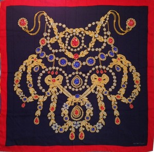 Cartier Jewel Printed Silk Scarf