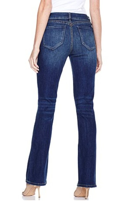 Yummie Woven Stretch Denim Midrise Boot Cut Jeans-Dark Rinse Image 1