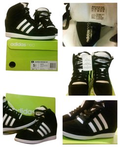 adidas Black/white Wedges