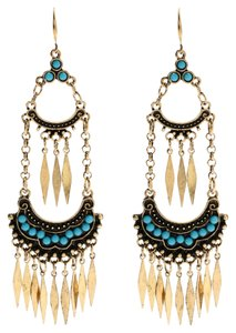 Amrita Singh Gorgeous Amrita Singh Festival Ready So Gypsy Boho New Turquoise Earrings
