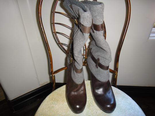 Cole Haan brown and gray Boots