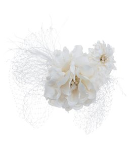 Cream Large Comb with Large and Small Gardenias Hair Accessory