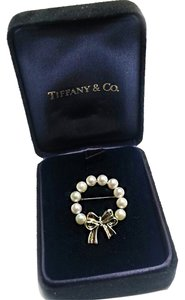 Tiffany & Co. Tiffany & Co Vintage 1989 Sterling Silver & 18 Karat Gold Pearl Pin Brooch