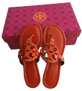 Tory Burch EQUESTRIAN ORANGE Flats