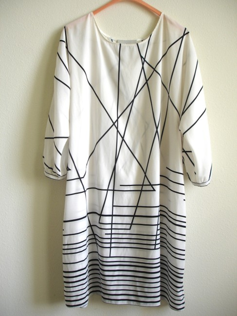 Other short dress white Printed Black And Boxy Tie Belt on Tradesy Image 5