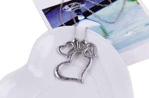 New Three Hearts Silver Necklace