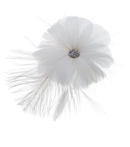 Lori London Small Feather Flower Hair Comb