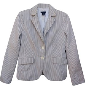 J.Crew Sports Coat Cream color with gray stripes Blazer
