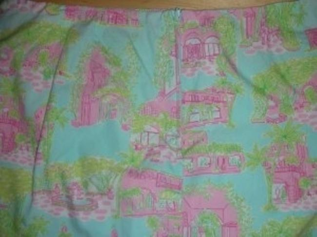 Lilly Pulitzer Mini Skirt Blue, Pink, and Green