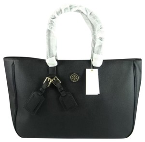 Tory Burch Roslyn Leather Handbag Tote in Black