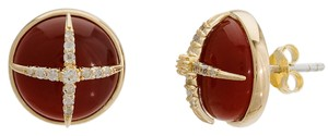 Elizabeth and James Northern Star Carnelian with White Topaz Stud Earrings