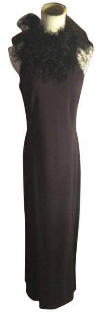 Preload https://img-static.tradesy.com/item/11662522/jones-new-york-eggplantblack-small-46-with-ostrich-feather-trim-full-length-long-cocktail-dress-size-0-1-650-650.jpg