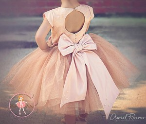 Champagne Glitter Flower Girl Dress Wedding Dress