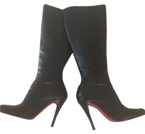 Christian Louboutin Knee-high Excellent Condition Classic Leather black Boots