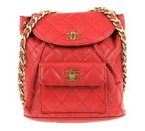 0840daf705 Red Chanel Backpacks - Up to 70% off at Tradesy