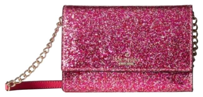 Item - New York Glitter Bug Cami Red Faux Leather Cross Body Bag