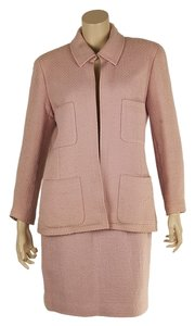 Chanel Chanel Vintage Pink Wool Skirt Suit, Size 42 (71406)