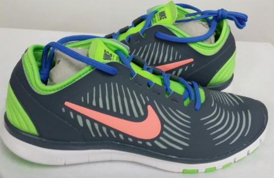 Nike White/Grey/Lime/Orange/Blue Athletic Image 1
