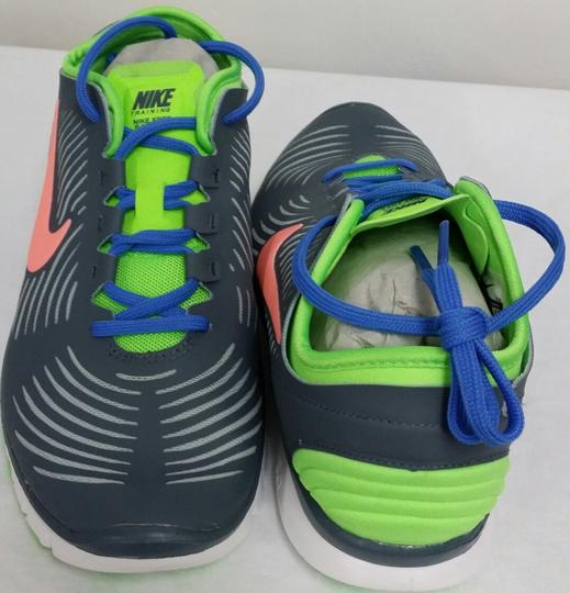 Nike White/Grey/Lime/Orange/Blue Athletic Image 2