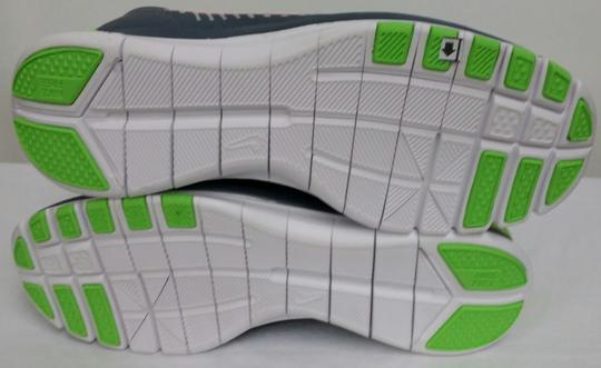 Nike White/Grey/Lime/Orange/Blue Athletic Image 3