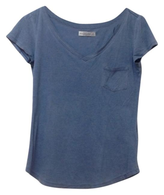 Abercrombie fitch t shirt blue 60 off retail for Abercrombie and fitch tee shirts