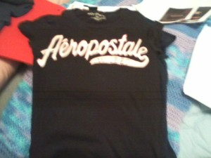 Aéropostale T Shirt 1 - black and 1 - navy