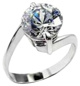 Other SALE New Size 5, STUNNING 4 CT. WEDDING/ENGAGEMENT RING W/RHODIUM PLATED BAND