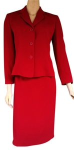 Garfield & Marks New GARFIELD & MARKS Red Career Skirt Suit 2