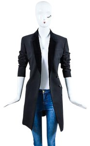 Christopher Kane Christopher Kane Black Velvet Trim Longline Blazer Jacket