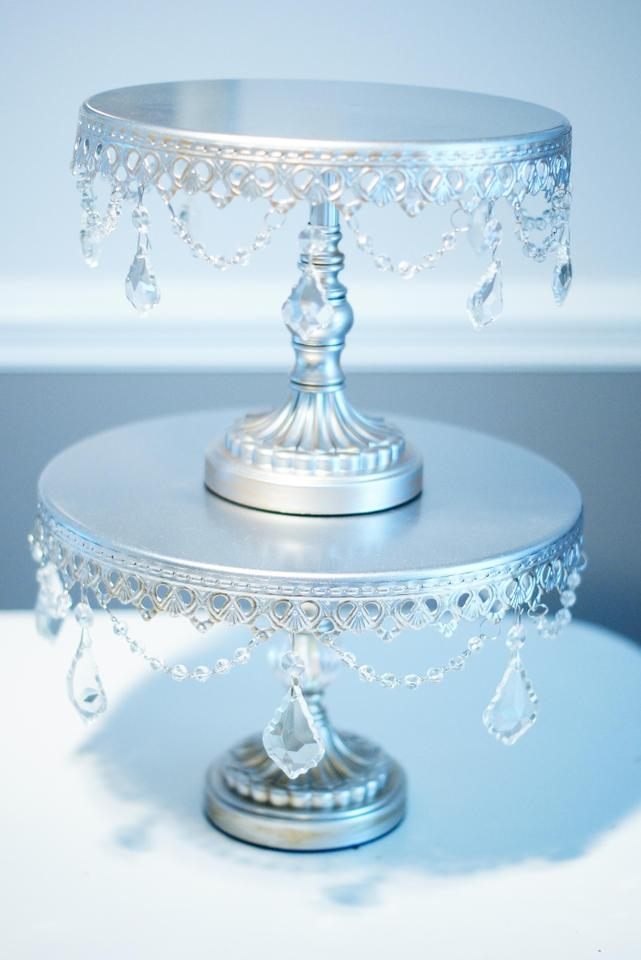 wedding cake stands vintage 10 quot antique silver cake stand cupcake stand crystals 8768