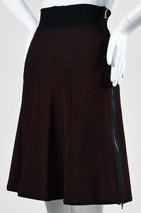 A.L.C. Black And Metallic Ribbed Skirt Red