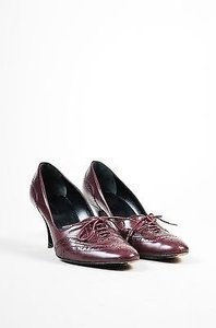 Balenciaga Bordeaux Purple Burgundy/Maroon Pumps
