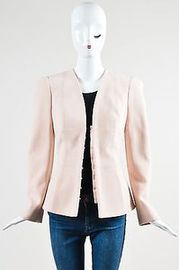 Alexander McQueen Blush Stretch Wool Peplum Pink Jacket