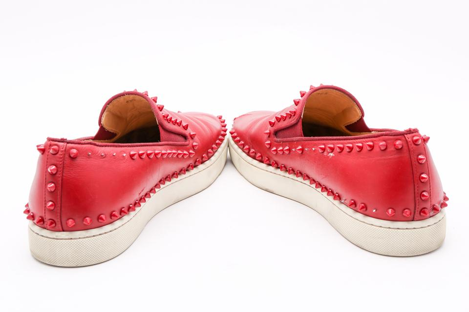 04dd9102272 Christian Louboutin Red Roller-boat Men's with Studs Flats Size US 11.5  Regular (M, B) 76% off retail