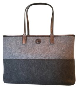 Tory Burch Tote in Light & Dark Grey
