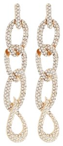 Neiman Marcus Four-Link Pave Rhinestone Drop Earrings