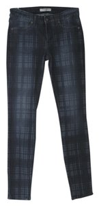Rich & Skinny Plaid Midrise Skinny Jeans-Medium Wash