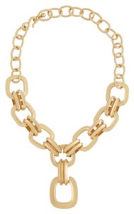 Kenneth Jay Lane Kenneth Jay Lane Gold Satin Pendant Necklace