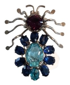 Vintage Blue Bug Pin