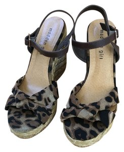 Madden Girl Wedge Brown Leopard Wedges